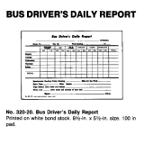 BUS DRIVER'S DAILY REPORT