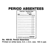 PERIOD ABSENTEES